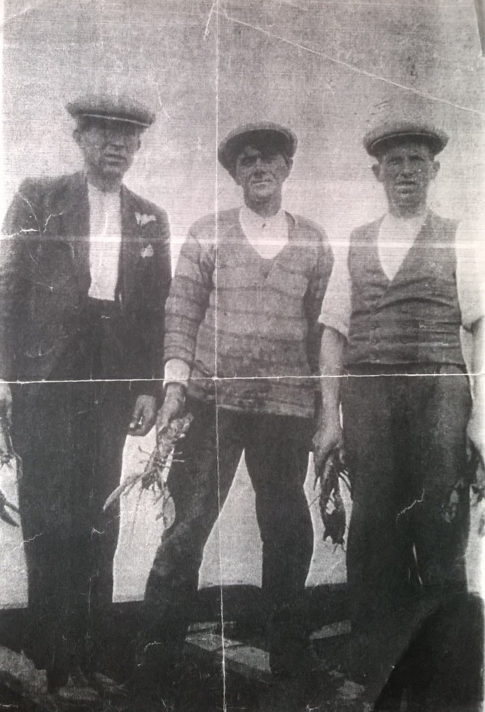 Cullinane (center) on Achill in 1943