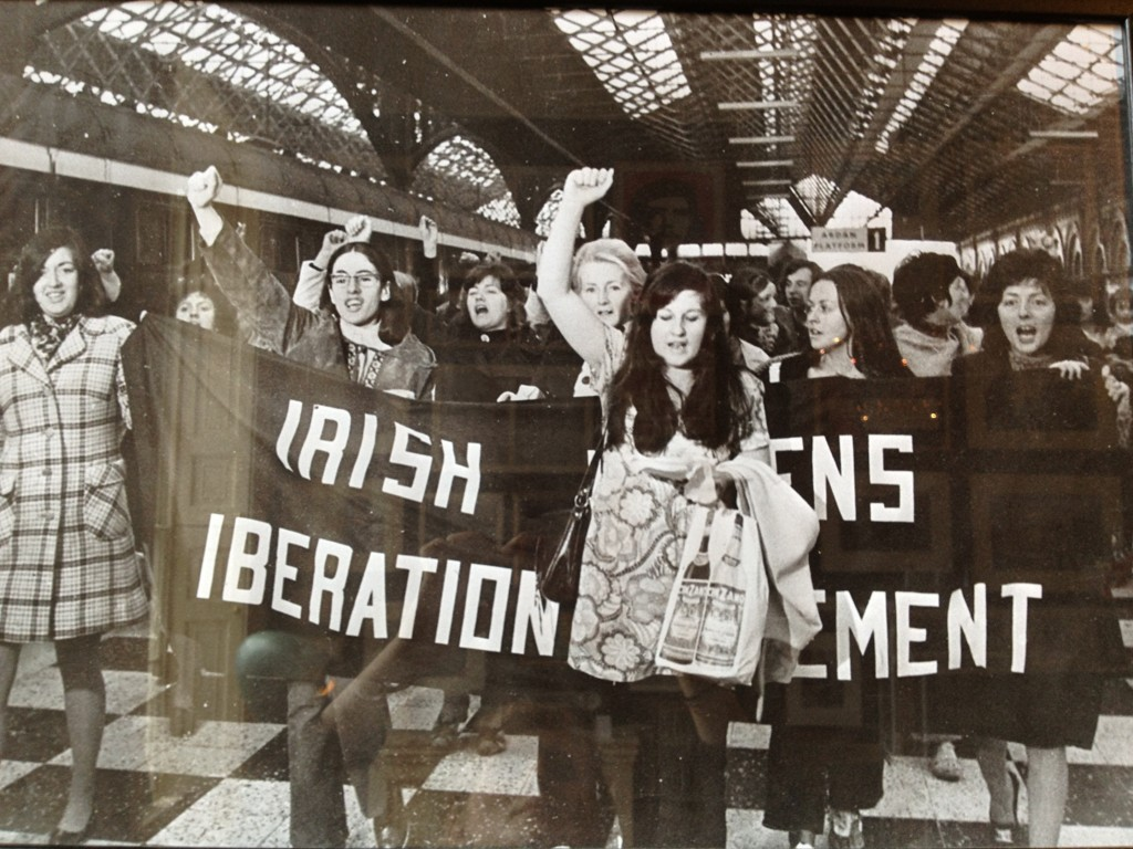 Members of the KWA in 1971 amongst the Irish Womens Liberation Movement