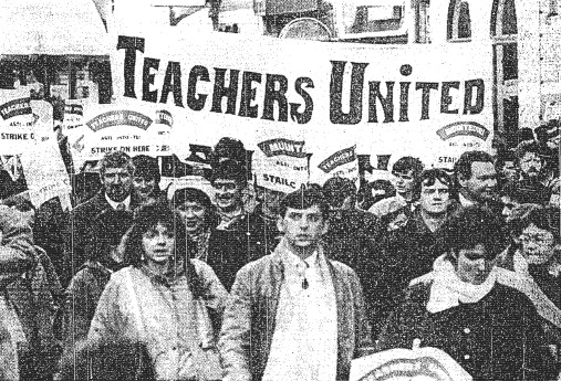 Theresa Flynn on a Teachers' Union march in 1965